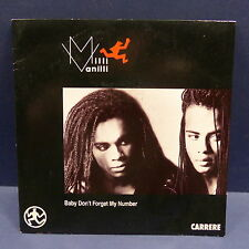 MILLI VANILLI Bbaby don't forget my number 14601