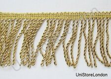 Braid Fringe Lace Light Gold Mylar 50mm R632