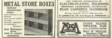 1926 John Burtinshaw And Coats Boxes W Canning Electroplating Old Advert