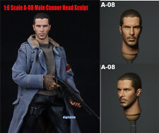 "*1:6 Scale A-08 Men Connor Head Sculpt F 12"" Hot Toys Phicen Action Figure"