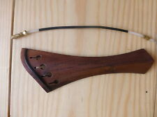 HARP MODEL VIOLIN TAILPIECE, ROSEWOOD, IMPROVE YOUR VIOLIN SOUND, 4/4 SIZE, UK!