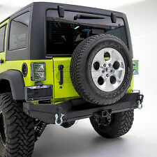 Gen2 Style 07-17 Jeep Wrangler JK Rock Crawler Rear Bumper+Solid Plate Wrapped