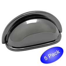 *5 Pack* Black Nickel Cabinet Hardware Bin Cup Pulls #4310BN