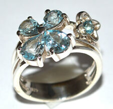 Blue Topaz 925 Sterling Silver Ring Jewelry s.7 JJ1940