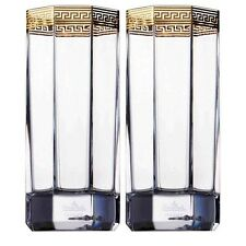 VERSACE MEDUSA GOLD Water  GLASS SET OF 2 D'OR  ROSENTHAL NEW