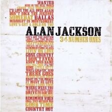 "ALAN JACKSON ""34 NUMBER ONES"" 2 CD NEW+"