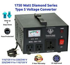 Diamond Series 1750 Watt Step Up/Down Voltage Converter Transformer w/ Regulator