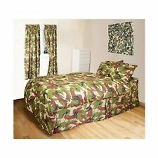 Kids Army Camouflage Single Camo Duvet Cover & Curtains Set - Army Bedroom Ideas