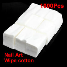 1000Pcs Cotton Wipes Pads Nail Art Cleaning Polish Acrylic Gel Tips Remover New
