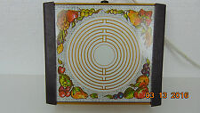 Warm-O-Tray 1 Warmer Electric Hot Plate Fruit Design Works model 30T