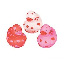 24 MINI HEART VALENTINES DAY DUCKS SMALL DUCKY LOVE PARTY FAVOR DUCKIES