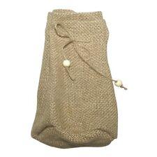 Stoffbeutel aus Jute mit Boden - groß - ca. 17 x 10 cm - beige