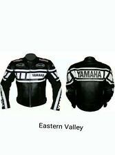 Mens YAMAHA Motorcycle Racing Biker 100%Cowhide Leather Jacket ALL SIZES