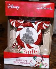 Hallmark 2016 Mickey Mouse Head Picture Frame Christmas Tree Ornament