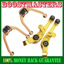 For 2003-2008 Nissan 350Z Base Coupe 2D 3.5L Gold Front&Rear Camber Kits