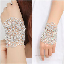 Bridal Rhinestone Arm Crystal Bracelet Bangle Chain Women Wedding Patry Jewelry