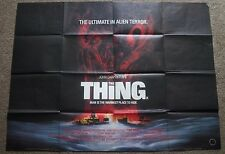 The Thing, Original 1982 UK Quad Movie Film Poster, Kurt Russell, John Carpenter