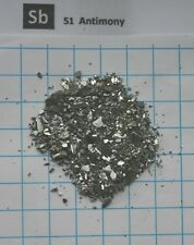 10g 99,999% Antimony pieces - Ultra pure element 51 sample