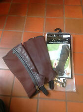 PRO CHAPS LEATHER & NEOPRENE HALF CHAPS   BNWT   VARIOUS SIZES  2 COLOURS