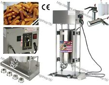 Commercial Auto Electric 15L Spanish Doughnuts Churro Maker Machine with Filler