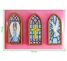 Stained Glass Windows Church Religious Silicone Mould by Fairie Blessings