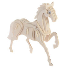 Wooden Puzzle Jigsaw Horse Shape DIY Educational Toy Children Funny Gift