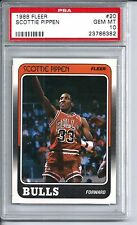 1988 Fleer Basketball #20 Scottie Pippen Rookie Card PSA 10 Gem Mint