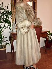 $8k Real blue gray sapphire mink coat, full length from Saks Fifth Avenue