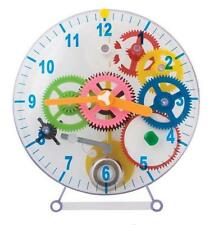 NEW DIY MAKE YOUR OWN WITH SPRING COGS GEARS SEE THROUGH CLOCK TOB/PW