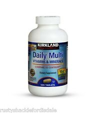 Kirkland Signature Daily Multi Vitamins & Minerals 500 Tablets - FREE Shipping
