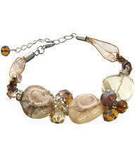 Beige and Brown Bohemian Baubles Shabby-Chic Bracelet