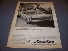 VINTAGE..1964 MERCURY COMET...1-PAGE ORIGINAL SALES AD  (535K)