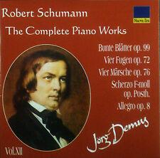 CD ROBERT SCHUMANN - the complete piano works vol. 12, Jörg Demus