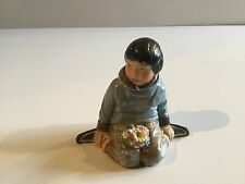 Royal Copenhagen Greenland Gronland Boy with Flowers Figurine 12419