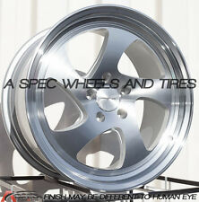 18x9/10 Varrstoen MK2 5x100 +30 Silver Wheels Fits Vw Golf Jetta 1999-2005