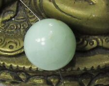 RARE NATURAL UNTREATED AUSTRALIAN APPLE GREEN CHRYSOPRASE ROUND BEAD 16mm