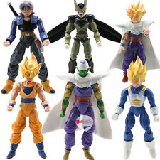 Lot 6 pcs Dragonball Z Dragon Ball DBZ Goku Action Figure Toy Anime Piccolo Set