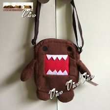 New Domo Kun Small Bag Cute Gift Brown Plush Shoulder Bag Girl or Boy`s Gift 1#