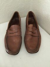 TOD'S TAN BROWN LEATHER PENNY LOAFERS MOCCASIN MEN SZ 8.5/ US 9.5