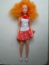 Reproduction Vintage Style Barbie Clone Doll Red Hair Freckles USSR Pippi