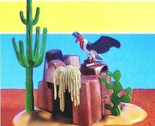Playmobil 7222 Western Cave Cactus Hideout Vulture Add-On Accessory NIP Retired