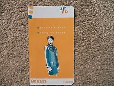 Air Lib MD-82/83 Airline Safety Card