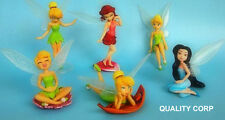 Disney fairies Tinkerbell action figures cake topper set 6pcs - BRAND NEW TOYS