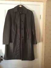 marks & spencer 100% brown leather coat size 12