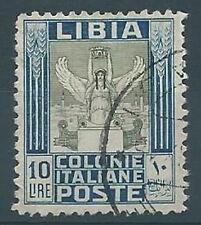 1937  LIBIA USATO PITTORICA 10 LIRE - RR12774