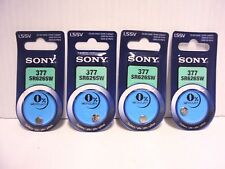 Lot 4 Sony 377/SR626SW 1.5V Silver Oxide Button/Coin/Cell Battery 1/2017 Genuine