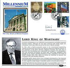 4 MAY 1999 WORKERS TALE BENHAM FDC SIGNED LORD KING OF WARTNABY SHS