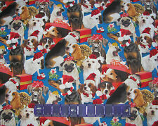 DOGS CHRISTMAS PUG WEIMARANER LAB BASSET - 100% COTTON FABRIC Priced By The Yard