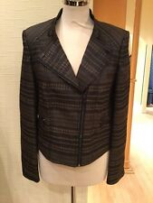 Gerry Weber Jacket Size 14 BNWT Brown Black RRP £170 Now £65