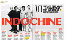 "PUBLICITE ADVERTISING 094  2009  INDOCHINE "" 10 choses que vous ne savez pas""(2p"
